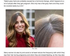 Kate Middleton ha i capelli bianchi. E la stampa inglese si chiede perché 63284c8d3310